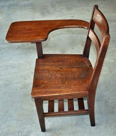 Another Old school desk-chair - refinished