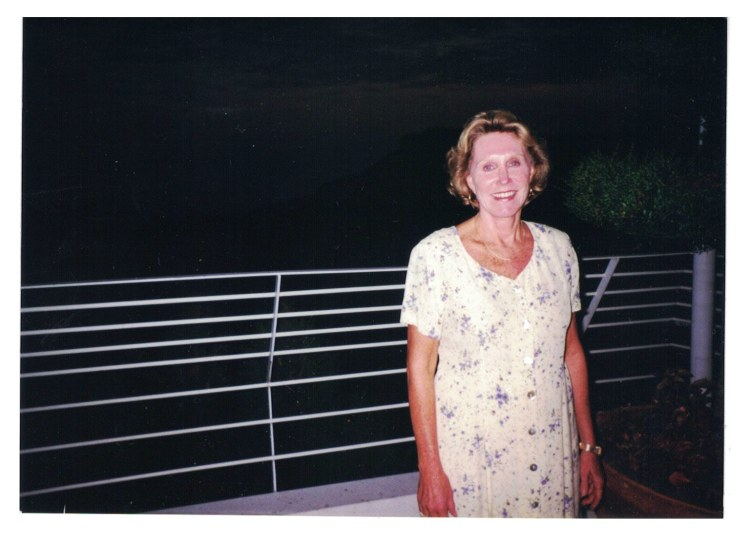 1997 Standing on the Deck of Vista Palace Hotel in Monaco.