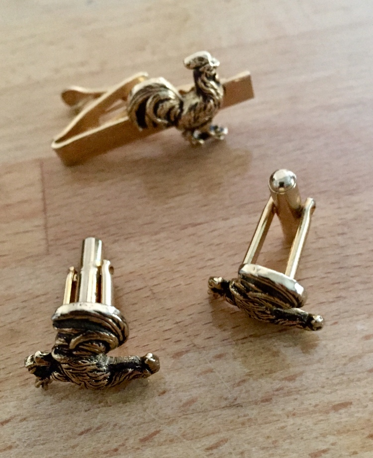 Cuff links & tie clip