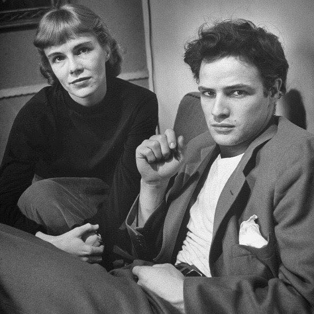 Marlon Brando and his sister